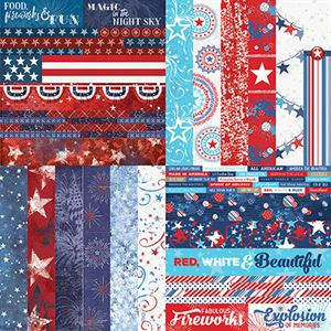 "Picture of Red, White, & Beautiful by Katie Pertiet 2"" Border Strips - Set 12"