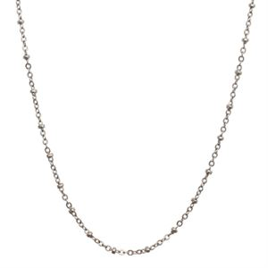Picture of Silver Faceted Bead Chain - 32""
